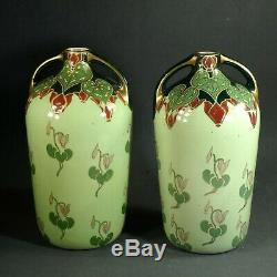 Paire Vases Art Nouveau K. G. Lunéville 1900
