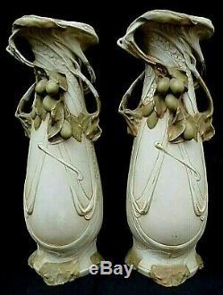 Paire de Vase Art nouveau ROYAL DUX porcelaine Bohémia -1900