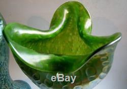 Paire de grand Vases Art Nouveau Verre irisé de LOETZ Iridescent Creta Diaspora
