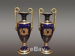 Paire de grands vases céramique de Tours signés Peaudecerf
