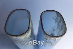 Paire de grands vases émaillés Art nouveau (37272)