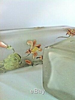 Paire de vases émaillés Art-nouveau de Legras Montjoie St Denis