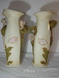 Paire de vases en Art Nouveau en céramique ROYAL DUX (Bohème) 1900