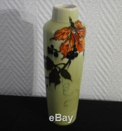 Paul Millet à Sèvres rare vase céramique Art nouveau1900 symboliste japonisme