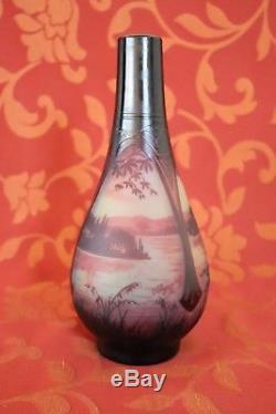 Paul Nicolas D'Argental vase en verre artistique Art Nouveau à collectionner