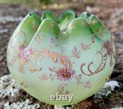 Petit Vase Boule En Pte De Verre Au Décor De Fleurs Daum Art Nouveau