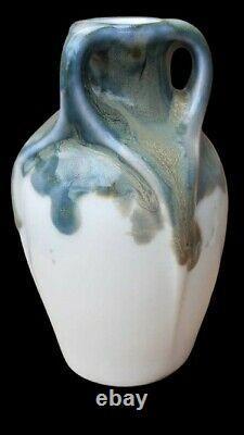 RARE Art Nouveau Céramique Georges BOURGEOT 1876 1955 Vase / Lachenal Mougin