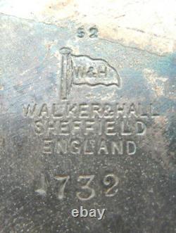 RARE Centre de table 1900, métal argenté anglais, 3 chameaux accroupis + 4 vases