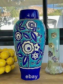 RARE. Grand vase Keramis Art Nouveau. Etat TOP