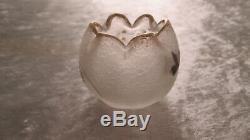 RARE vase miniature Art nouveau dégagé à l'acide Montjoye Legras / Daum Gallé
