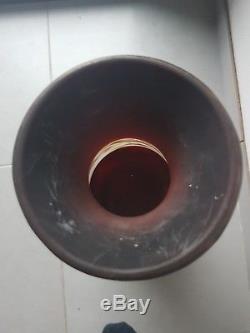 Rare Exceptionnel Vase GALLÉ 60CM vigne raisin dégagé Acide 1900 Art Nouveau old