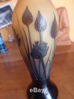 Rare Petit Vase Balustre Paul Nicolas D Argental Pate De Verre Art Nouveau