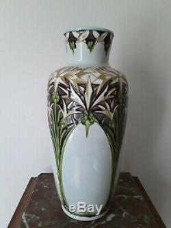 Rare Vase Boch Frères Kéramis BFK Art Nouveau