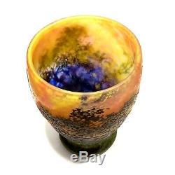 Rare Vase En Pate De Verre Signe Daum Nancy Art Nouveau 1903 No Galle