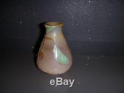 Rare Vase Miniature Legras Degage A L Acide Art Nouveau