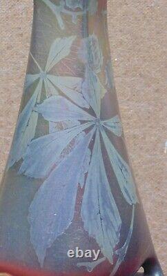 Rare grand Vase Céramique Irisée MONTIERES Barol ART NOUVEAU JUGENDSTIL Massier