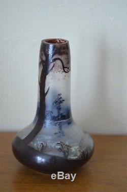 Rare petit vase art nouveau signé Gauthier