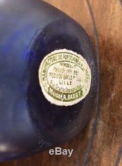 Rare petit vase soliflore verre marmoréen ART-NOUVEAU Muller Frères Lunéville
