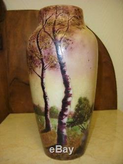 Rare vase Gauthier époque Gallé, Daum, Legras art nouveau
