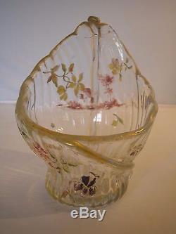 Superbe Vase 1900 Emile Galle Nancy Verre Emaille Art Nouveau No Pate De Verre