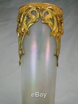 Splendide Paire De Vases Loetz Verre Irise Art Nouveau 1900 Jugendstil Wien