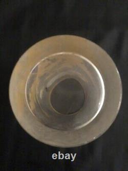 Sublime Ancien Vase Rouleau Émaillé Décor de Pavots MONTJOYE LEGRAS Art Nouveau