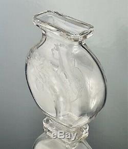 Sublime Vase Baccarat pour L'Escalier de Cristal Femme Nue Art Nouveau