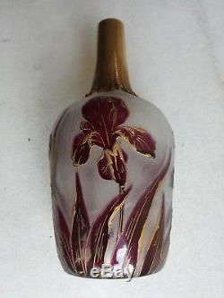 Superbe Carafe Daum Nancy Verrerie Vase Art Nouveau 1900 Victor Saglier