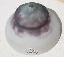 Superbe Chapeau De Lampe Pate De Verre Art Nouveau Signe Daum Nancy 1900 No Vase