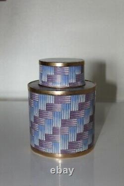 Superbe Pot à Thé Cloisonné cuivre de Fabienne Jouvin Design Enamel copper email
