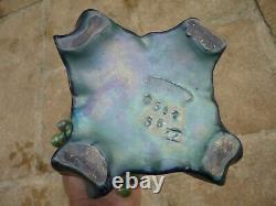 Superbe Vase Amphora Art Nouveau Austria Boheme Irise Reflets Metalliques 1900