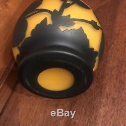 Superbe Vase Art Nouveau pate de verre signé Richard