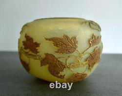 Superbe Vase Automnal Signé Daum Nancy Pate De Verre Époque 1900 Art Nouveau
