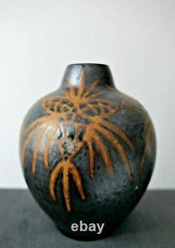 Superbe Vase Charles Greber Rare Grès Émaillé Art Nouveau Époque 1900
