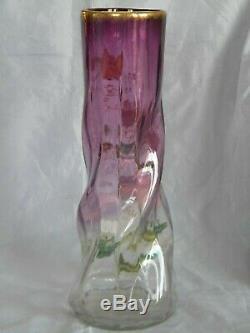 Superbe Vase Emaille Legras Art Nouveau