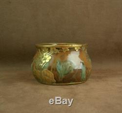 Superbe Vase Epoque Art Nouveau Ceramique Et Bronze Paul Louchet