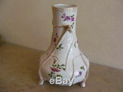 Superbe et rare vase en faïence signé Emile Gallé NANCY, époque ART NOUVEAU