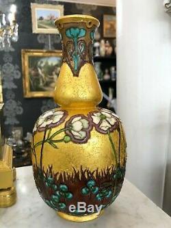 Superbe vase SEVRES PAUL MILET émaillé ART NOUVEAU