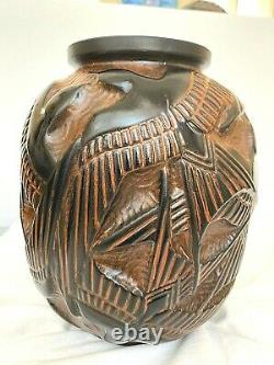 Superbe vase art nouveau signé Pierre D'Avesn