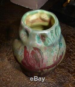 Superbe vase coloquinte art nouveau KELLER et GUERIN Ernest BUSSIERE