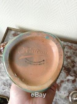 TRES RARE vase En Grès Charles Catteau Art Nouveau Rambervillers (pré Boch)
