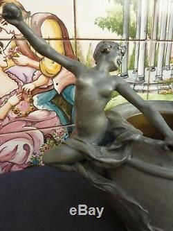 Trés Bel Et Ancien Étain Art Nouveau Époque 1900 Signé Susse Fréres