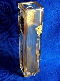 Tres Joli Vase Soliflore Art Nouveau Degage A L Acide Daum, Montjoye