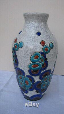 Trés beau vase Keramis Boch Catteau Art Nouveau