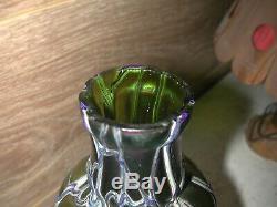 Très joli vase verre iridescent Art Nouveau Kralik Loetz Verrerie de Bohème