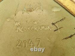 VASE ART NOUVEAU PETER BEHRENS M&W WESTERWÄLDER NEUKERAMIK N°2047 circa 1902