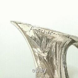VASE Pichet Art Nouveau Etain poli Edit. ETTLING Freres