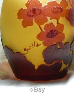 VasePopulages des marais émile Gallé 1846-1904école Nancy verrerie Art-Nouveau