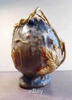 Vase Art Nouveau, Amphora, Teplitz, Paul Dachsel