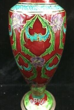 Vase Art Nouveau Charles PELTANT email emaux enamel era Fauré Sarlandie Limoges